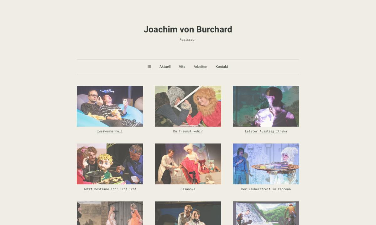 Joachim von Burchard – Regisseur