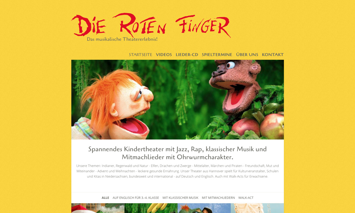 "Figurentheater ""Die roten Finger"""